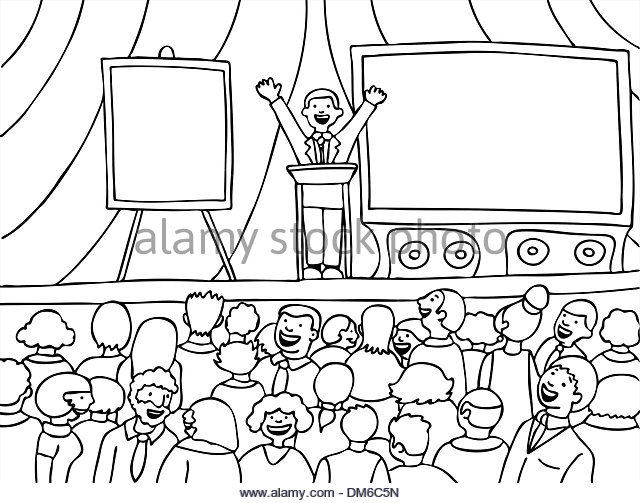 640x503 Public Speaker Crowd Black And White Stock Photos Amp Images
