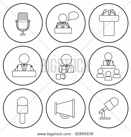 450x470 Set Isolated Thin Line Icons On Vector Amp Photo Bigstock
