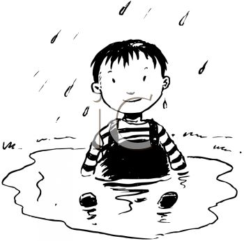 350x346 Picture Of A Young Boy Sitting In A Puddle Of Water In A Vector