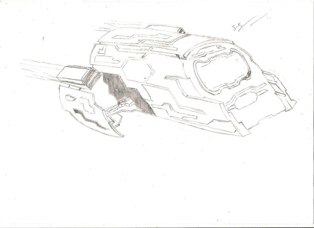 1024x745 Stargate Atlantis (Puddle Jumper, Pencil Sketch) By Jethroharper