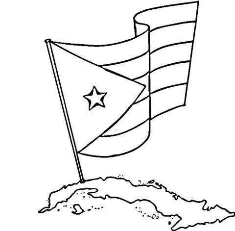 480x471 Flag Of Puerto Rico Coloring Pages