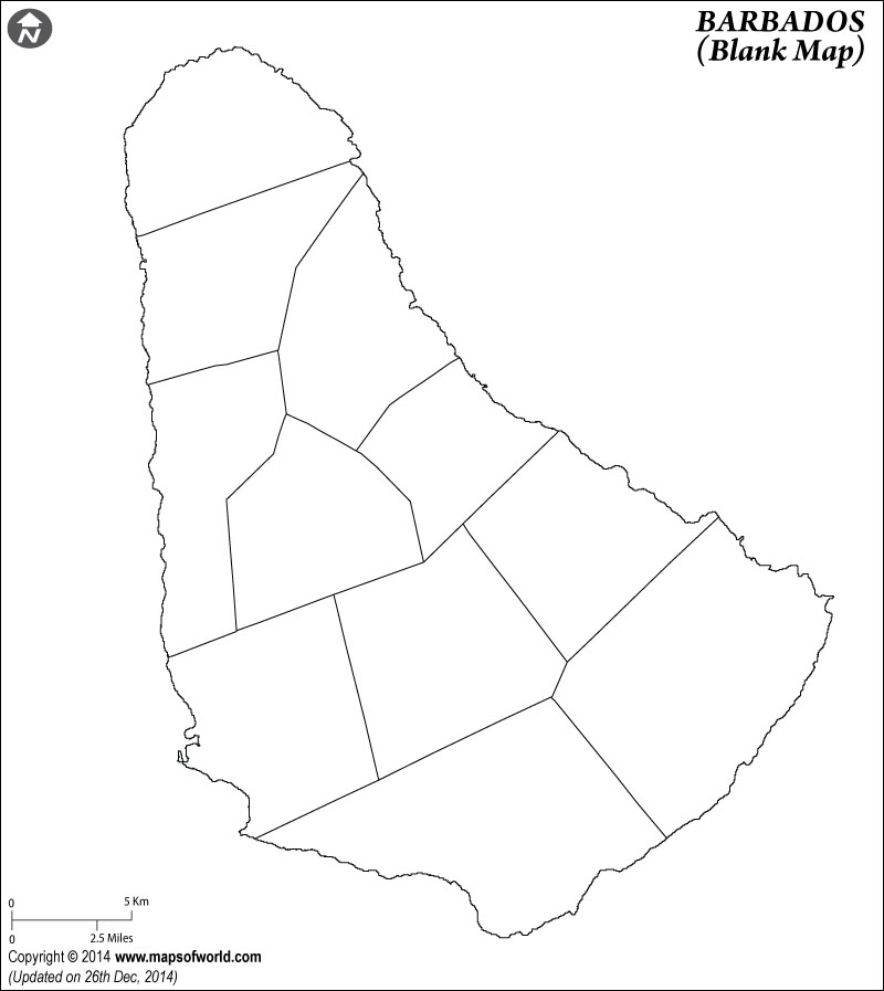 800x897 Blank Map Of Barbados Barbados Outline Map