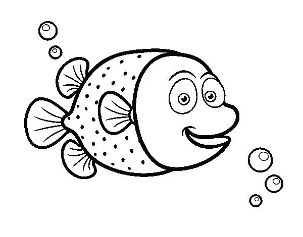 600x470 Puffer Fish Coloring Page Of White Dots Coloring Page Home