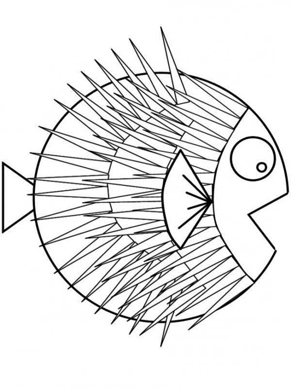 600x800 Puffer Fish Coloring Pages