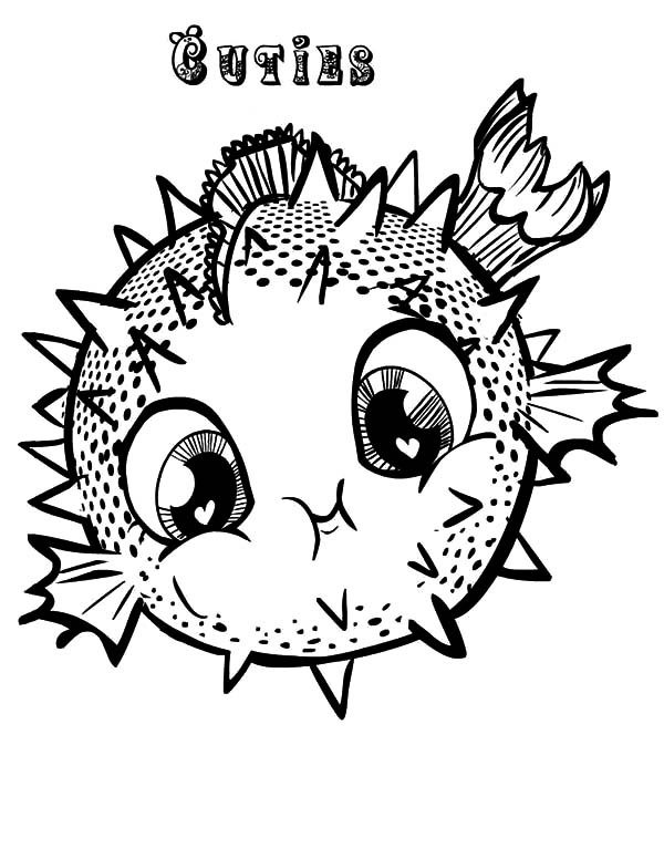 600x776 Value Puffer Fish Coloring Pages Realistic