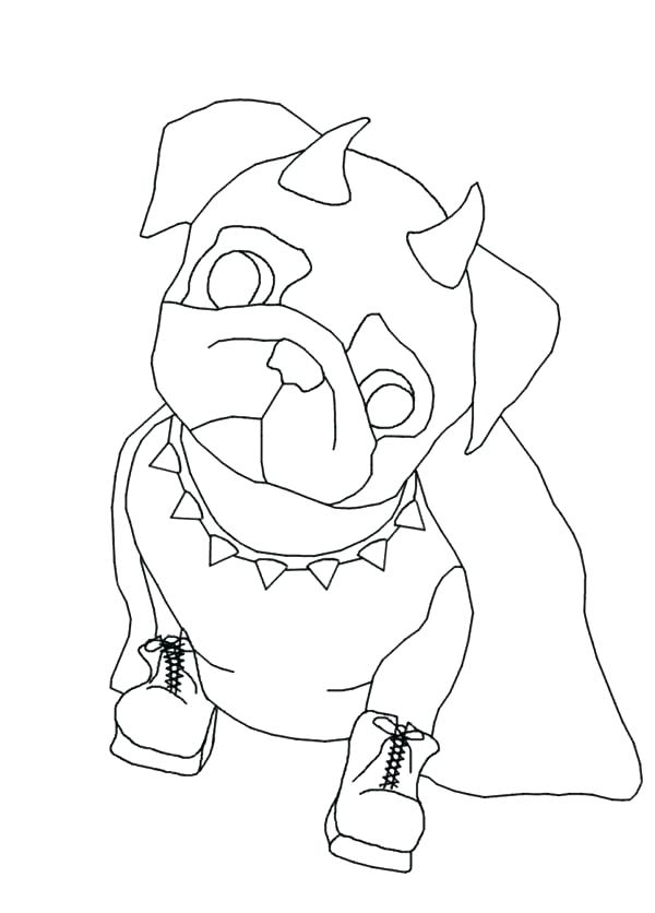 600x836 Pug Coloring Pictures Pugs Coloring Pages Pug The Devil Dog Put