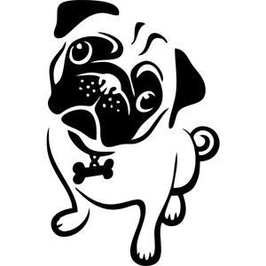 300x300 Pug Dog Breed Mops Jdm Auto Car Bumper Window Vinyl Decal Sticker