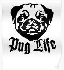 210x230 Pug Life Drawing Posters Redbubble