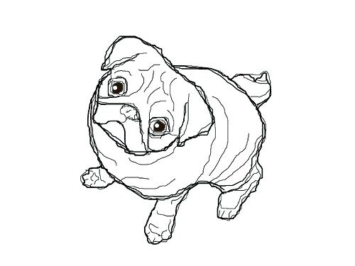 500x375 Pugs Coloring Pages Pin Drawn Pug Coloring Page 3 Pug Coloring