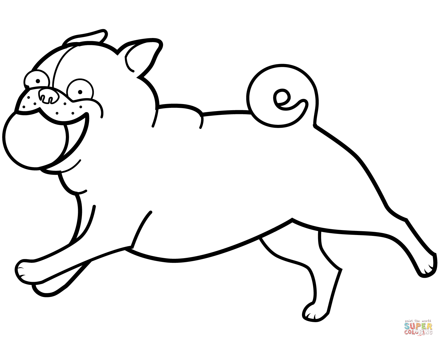 Pug Outline Drawing at GetDrawings.com | Free for personal use Pug ...
