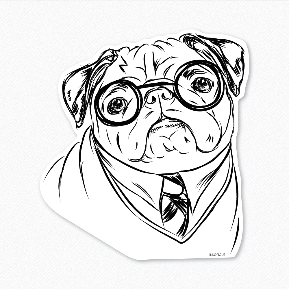 1000x1000 pug coloring pages