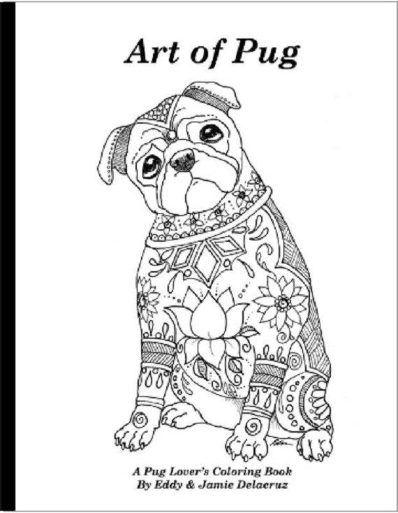570x734 Art Of Pug Coloring Book Volume No. 1