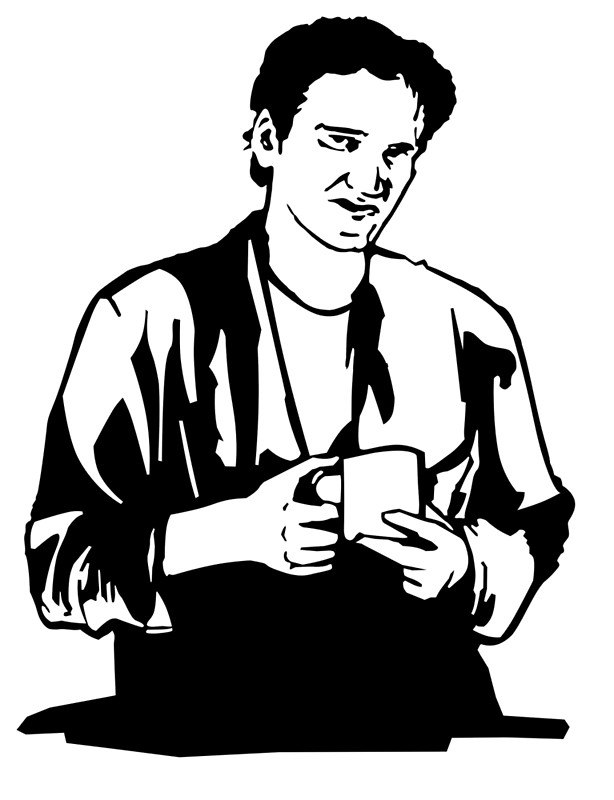 614x800 Quentin Tarantino Jimmy's Coffee Pulp Fiction Canvas Prints By
