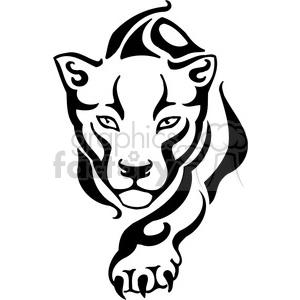 300x300 Royalty Free Wild Puma 022 385468 Vector Clip Art Image