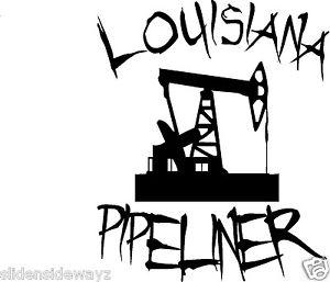 300x257 Louisiana Pipeliner With Pump Jack Vinyl Decalsticker Pipeline Ebay