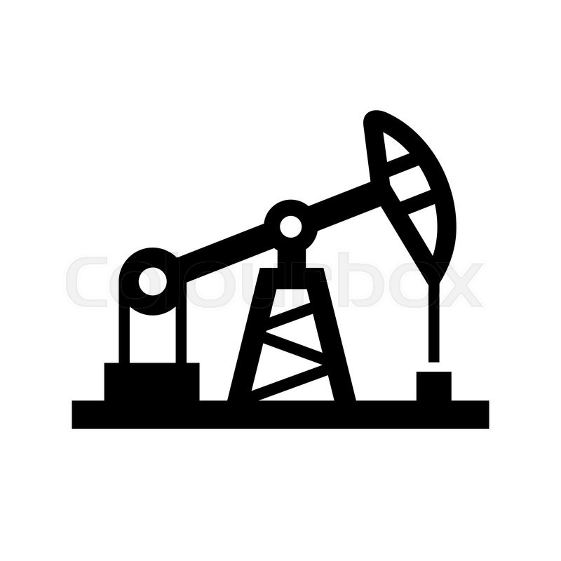 800x800 Oil Pump Icon On White Background. Vector Illustration Stock