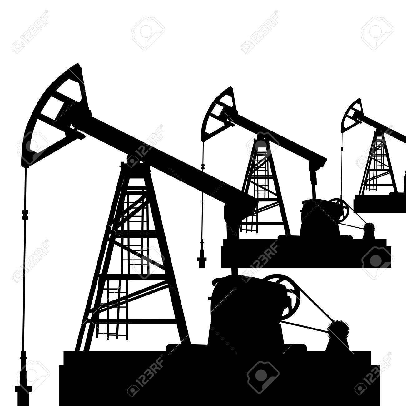 1300x1300 Oil Pump Jack. Oil Industry Equipment. Vector Illustration