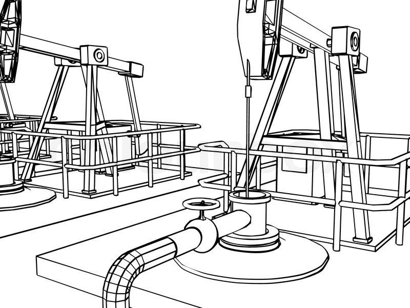 800x601 Oil Pump Close Up Stock Vector Colourbox