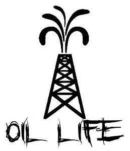 258x300 Oil Life Pump Jack Vinyl Decal Sticker Oil Hand