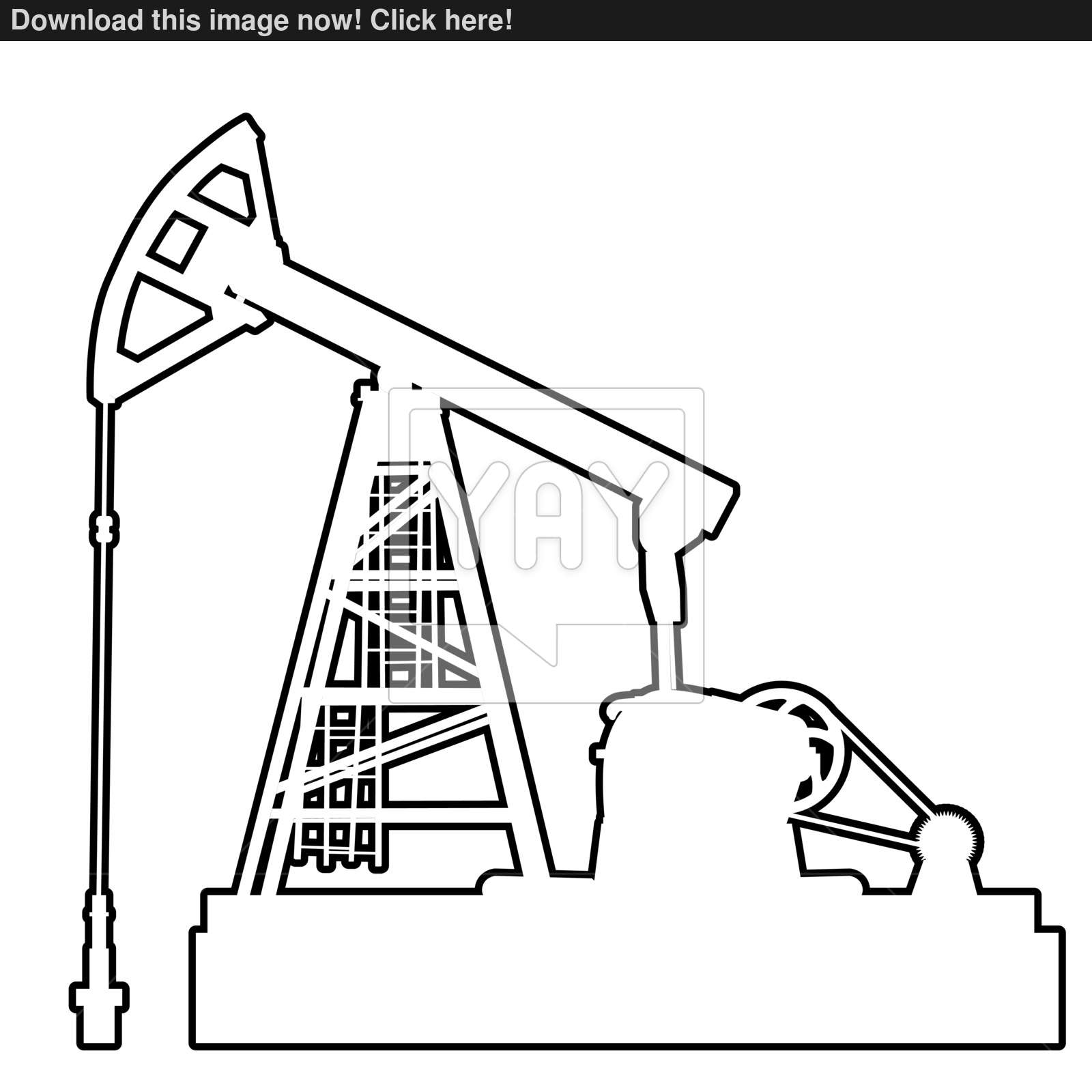 1600x1600 Oil Pumpjack. Oil Industry Equipment. Vector