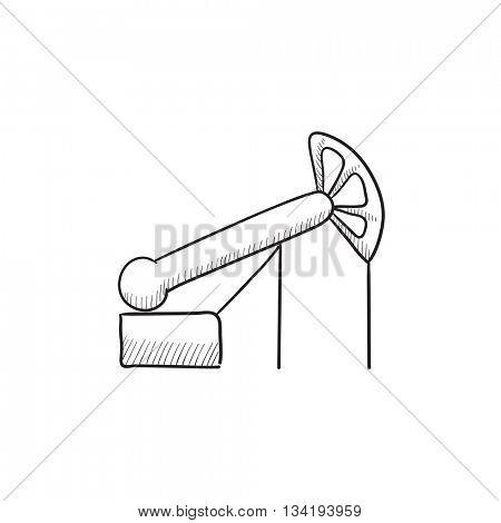 450x470 Pump Jack Oil Crane Vector Sketch Vector Amp Photo Bigstock