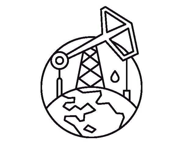 600x470 Pumpjack Coloring Page