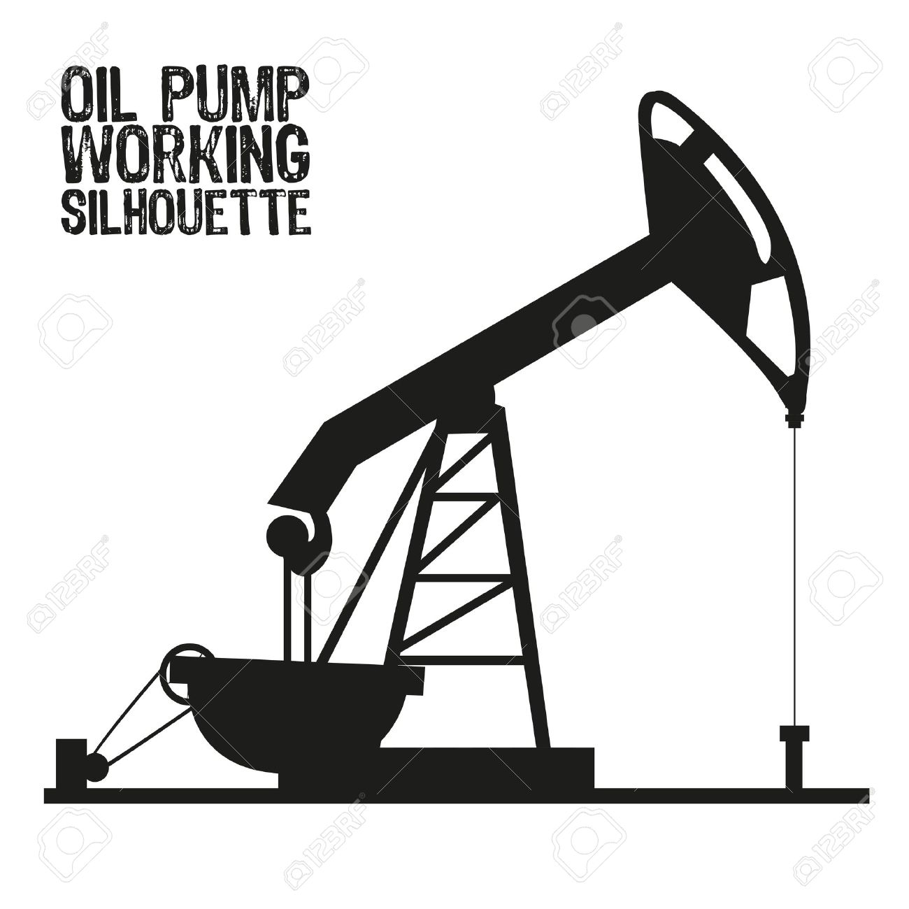1300x1300 Silhouette Of Oil Pump Isolated On A White Background Royalty Free