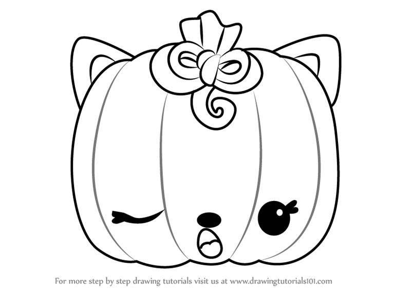 800x566 Learn How To Draw Paula Pumpkin From Num Noms (Num Noms) Step By