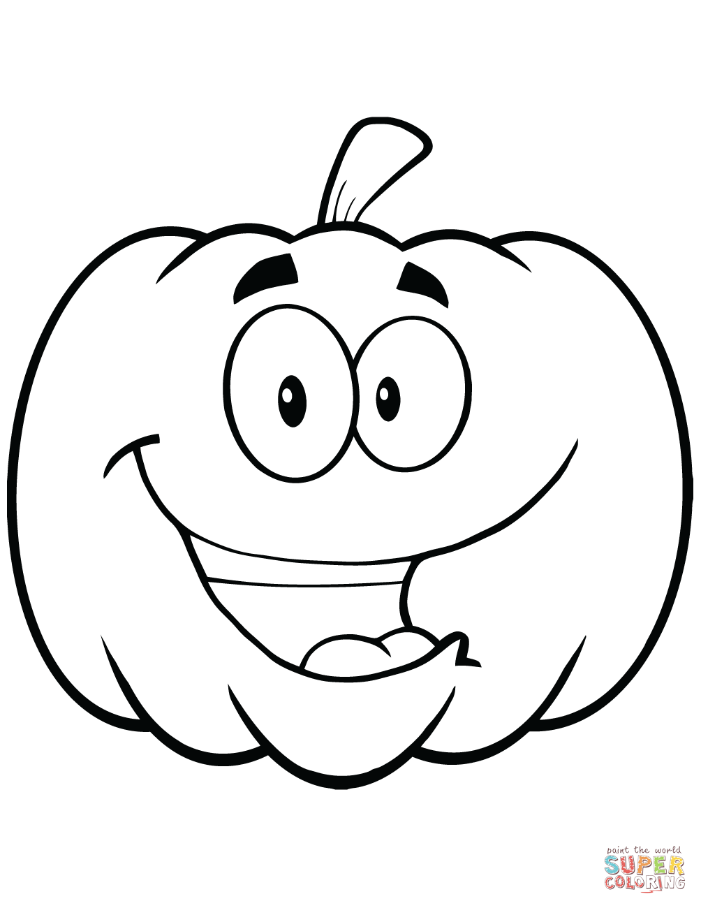 1004x1300 Cartoon Halloween Pumpkin Coloring Page Free Printable Coloring