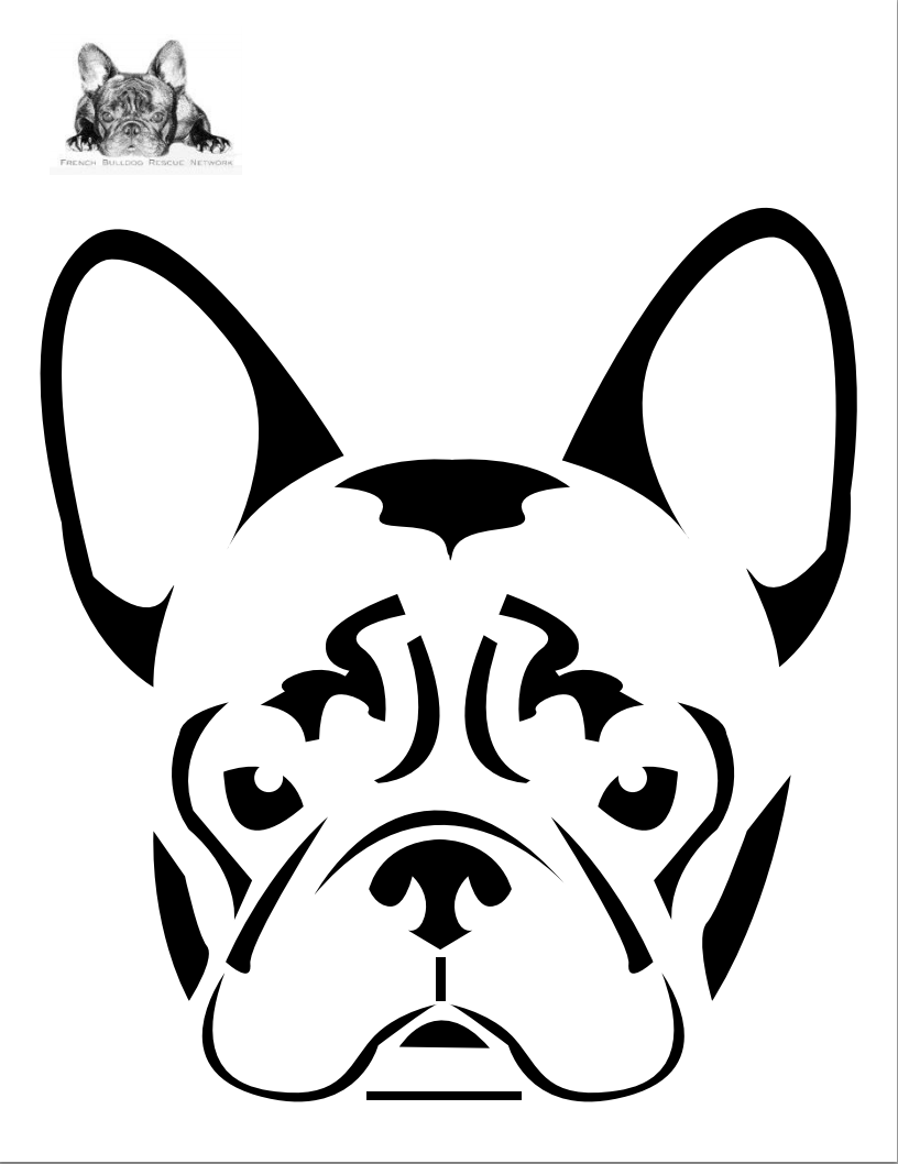 816x1058 Boston Terrier Dog Face Free Halloween Pumpkin Carving Stencil