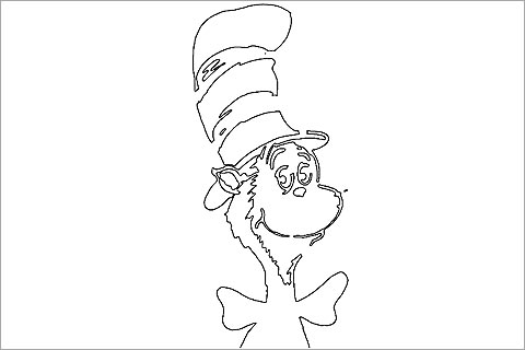 480x320 Cat In The Hat Pumpkin Stencil Halloween Food Amp Crafts