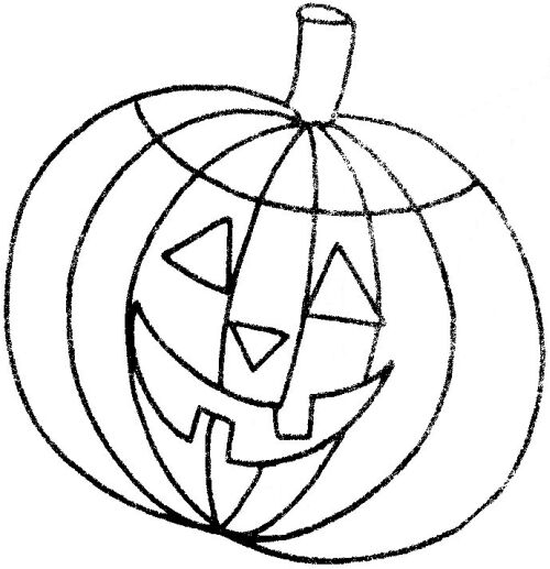 500x517 Free Halloween Pumpkin Template