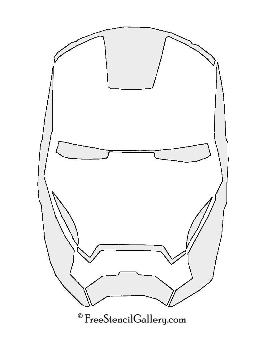 850x1100 Iron Man Mask Stencil Stencil Stenciling, Masking