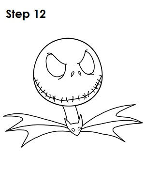 300x388 How To Draw Jack Skellington