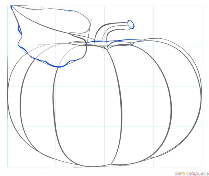 683x575 How To Draw A Pumpkin Step By Step Drawing Tutorials