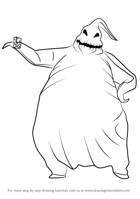 596x843 Learn How To Draw Oogie Boogie From The Nightmare Before Christmas