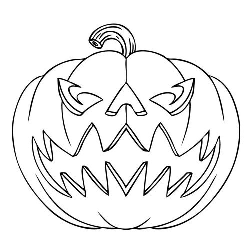 500x500 Learn To Draw For Kids. Halloween Pumpkin Drawing Tutorial How