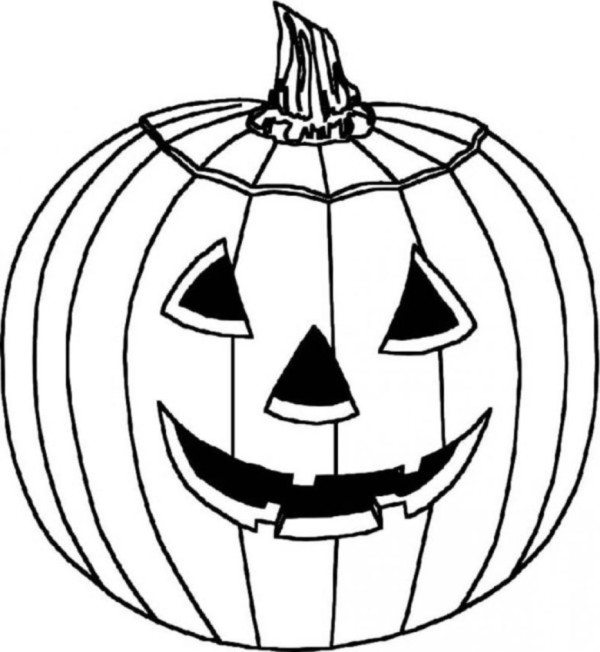 600x652 Halloween Pumpkin Coloring Pages To Print