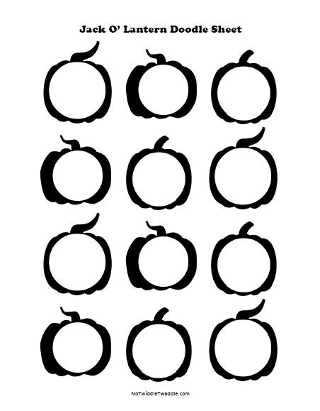 452x579 Jack O' Lantern Doodle Sheets {3 Free Printables!}