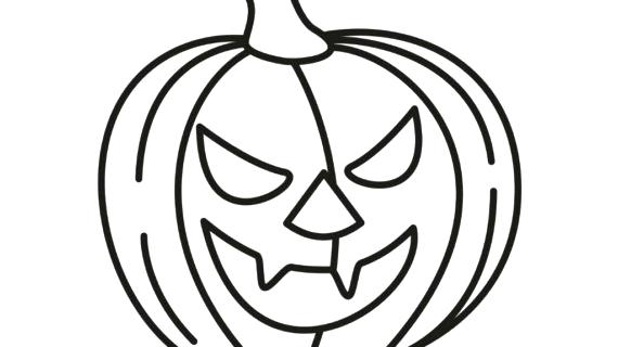 570x320 Pumpkin Coloring Pages Free Printable Pumpkin Drawing For Kids