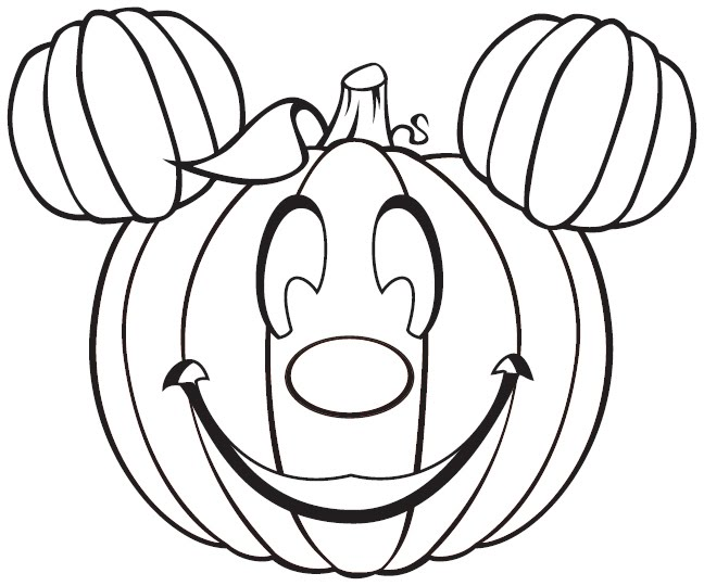 648x540 Funny Pumpkin For Halloween Coloring Pages