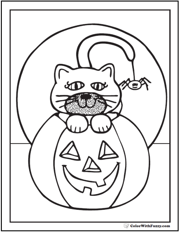590x762 72 halloween printable coloring pages customizable pdf - Coloring Pumpkin Templates 2