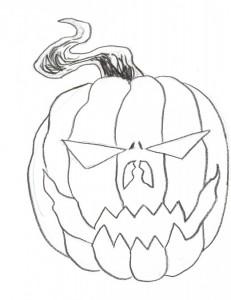 231x300 How To Draw Halloween Pumpkin