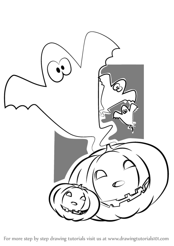 567x800 Learn How To Draw Scary Halloween Pumpkin (Halloween) Step By Step