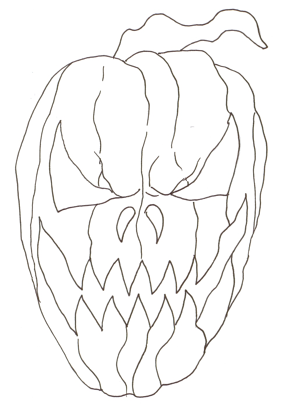 968x1404 Wayne Tully Fantasy Art Drawing A Halloween Fantasy Pumpkin