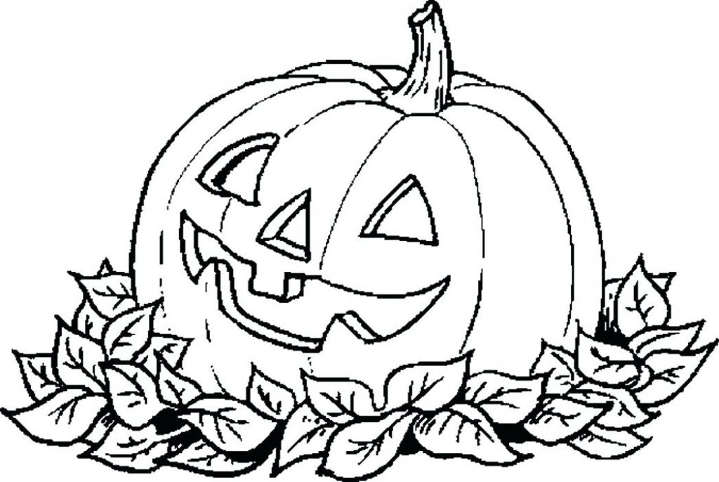 1024x686 Coloring Pages Pumpkin For Halloween Coloring Pages