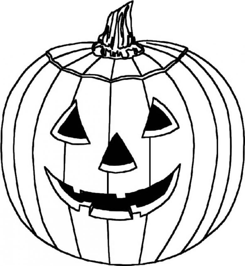 781x850 Cool Halloween Pumpkin Coloring Pages 59 For Line Drawings