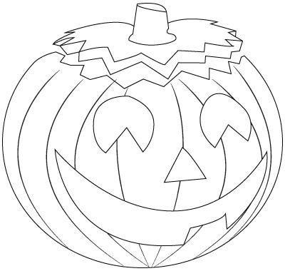 400x380 Pumpkin Drawing Childrens Drawings