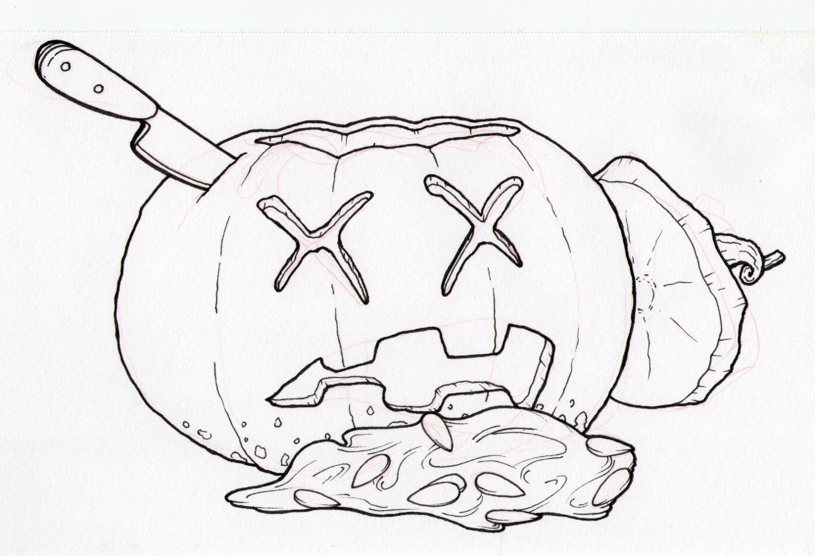 1664x1136 Pumpkin Doodle A Day