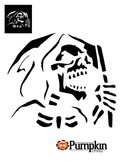 400x518 Grim Reaper Pumpkin Pattern